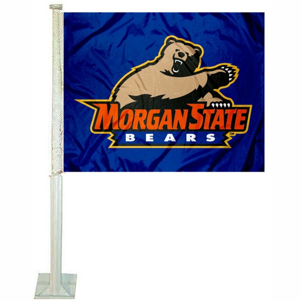 MSU Bears Car Flag measures 12x15 inches, is constructed of sturdy 2 ply polyester, and has screen printed school logos which are readable and viewable correctly on both sides. MSU Bears Car Flag is officially licensed by the NCAA and selected university.