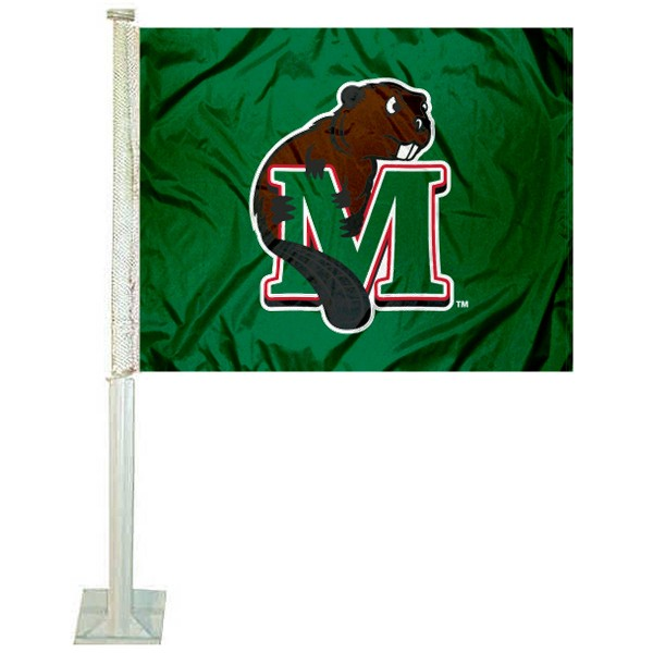 MSU Beavers Logo Car Flag measures 12x15 inches, is constructed of sturdy 2 ply polyester, and has screen printed school logos which are readable and viewable correctly on both sides. MSU Beavers Logo Car Flag is officially licensed by the NCAA and selected university.