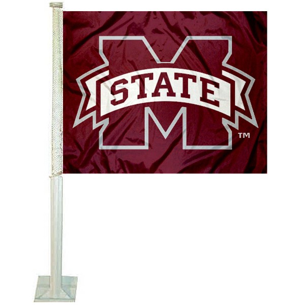 MSU Bulldogs Car Window Flag measures 12x15 inches, is constructed of sturdy 2 ply polyester, and has screen printed school logos which are readable and viewable correctly on both sides. MSU Bulldogs Car Window Flag is officially licensed by the NCAA and selected university.