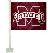 MSU Bulldogs Car Window Flag