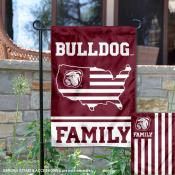 MSU Bulldogs Garden Flag with USA Country Stars and Stripes