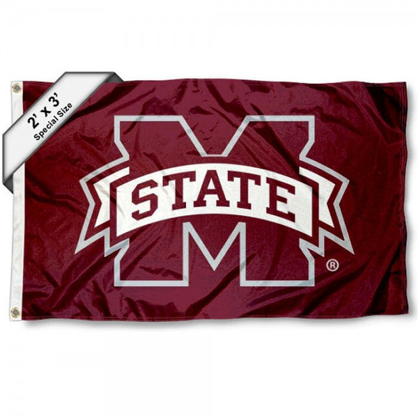 MSU Bulldogs Small 2'x3' Flag measures 2x3 feet, is made of 100% polyester, offers quadruple stitched flyends, has two brass grommets, and offers printed MSU Bulldogs logos, letters, and insignias. Our 2x3 foot flag is Officially Licensed by the selected university.