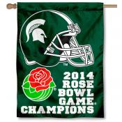 MSU Spartan 2014 Rose Bowl Champs House Flag
