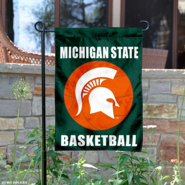 MSU Spartans Basketball Garden Banner is 13x18 inches in size, is made of 2-layer polyester, screen printed athletic logos and lettering. Available with Same Day Express Shipping, Our MSU Spartans Basketball Garden Banner is officially licensed and approved by the school and the NCAA.