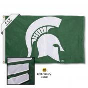 MSU Spartans Embroidered and Appliqued 4x6 Flag