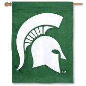MSU Spartans Embroidered House Flag