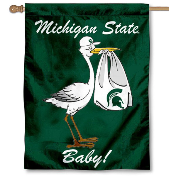 MSU Spartans New Baby Flag
