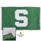 MSU Spartans Nylon Embroidered Flag