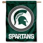 MSU Spartans Shield House Flag