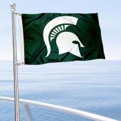 MSU Spartans Spartan Helmet Boat Flag