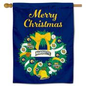 MU Golden Eagles Happy Holidays Banner Flag