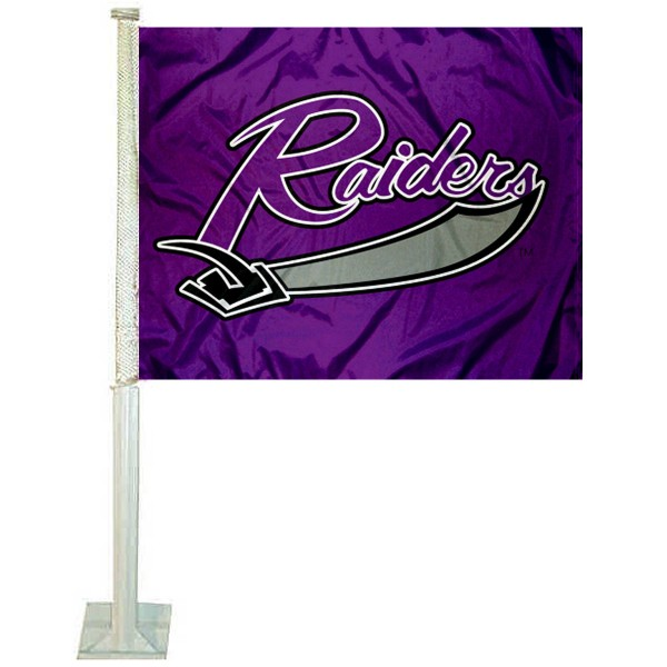 MU Purple Raiders Car Window Flag measures 12x15 inches, is constructed of sturdy 2 ply polyester, and has screen printed school logos which are readable and viewable correctly on both sides. MU Purple Raiders Car Window Flag is officially licensed by the NCAA and selected university.
