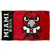MU Redhawks Kawaii Tokyodachi Yuru Kyara Flag