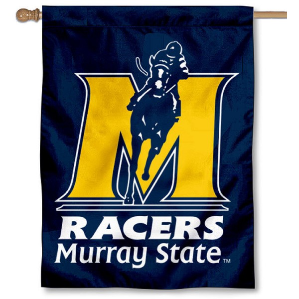 Murray State Racers House Flag is a vertical house flag which measures 30x40 inches, is made of 2 ply 100% polyester, offers dye sublimated NCAA team insignias, and has a top pole sleeve to hang vertically. Our Murray State Racers House Flag is officially licensed by the selected university and the NCAA