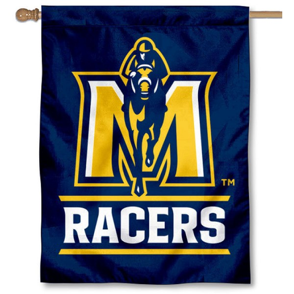 Murray State Racers House Flag is a vertical house flag which measures 30x40 inches, is made of 2 ply 100% polyester, offers screen printed NCAA team insignias, and has a top pole sleeve to hang vertically. Our Murray State Racers House Flag is officially licensed by the selected university and the NCAA.