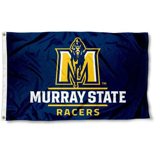 Murray State Racers New Logo Flag measures 3x5 feet, is made of 100% polyester, offers quadruple stitched flyends, has two metal grommets, and offers screen printed NCAA team logos and insignias. Our Murray State Racers New Logo Flag is officially licensed by the selected university and NCAA.