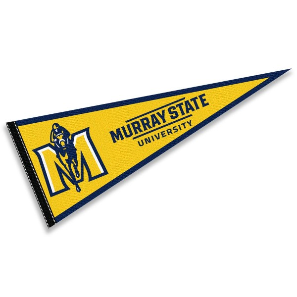 Murray State Racers Pennant consists of our full size sports pennant which measures 12x30 inches, is constructed of felt, is single sided imprinted, and offers a pennant sleeve for insertion of a pennant stick, if desired. This Murray State Racers Pennant Decorations is Officially Licensed by the selected university and the NCAA.