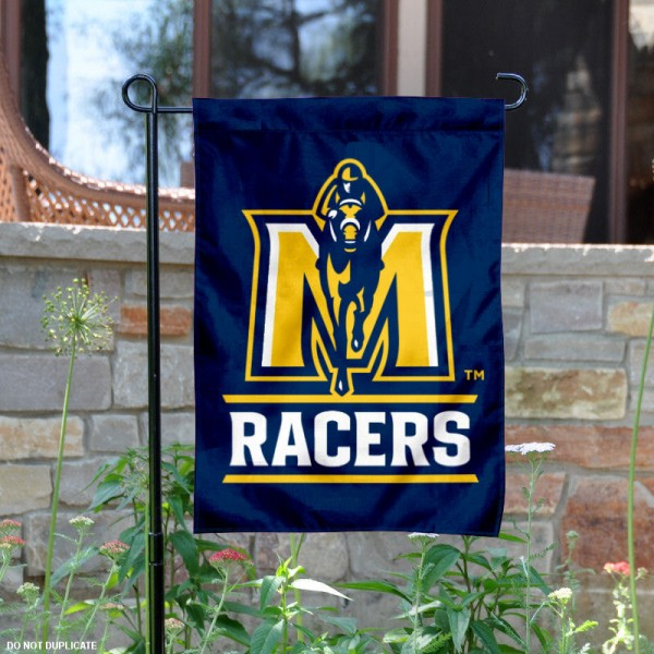 Murray State University Garden Flag is 13x18 inches in size, is made of 2-layer polyester, screen printed university athletic logos and lettering, and is readable and viewable correctly on both sides. Available same day shipping, our Murray State University Garden Flag is officially licensed and approved by the university and the NCAA.