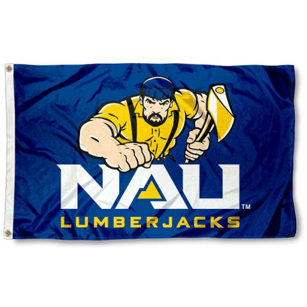 NAU 3x5 Flag is made of 100% nylon, offers quad stitched flyends, measures 3x5 feet, has two metal grommets, and is viewable from both side with the opposite side being a reverse image. Our NAU 3x5 Flag is officially licensed by the selected college and NCAA.