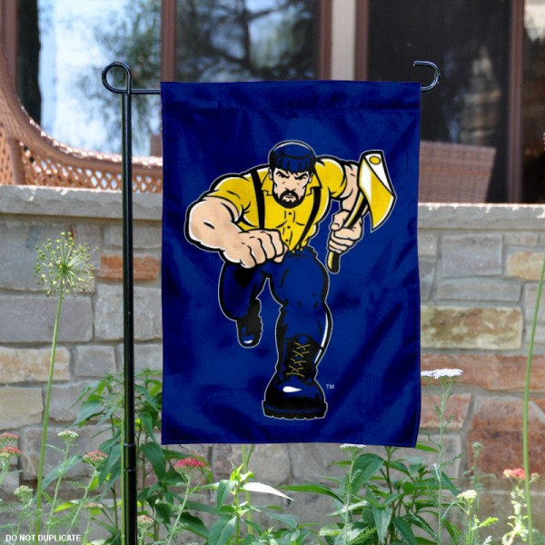 NAU Louie the Lumberjack Mascot Garden Flag is 13x18 inches in size, is made of 2-layer polyester, screen printed Northern Arizona Lumberjacks athletic logos and lettering. Available with Same Day Express Shipping, Our NAU Louie the Lumberjack Mascot Garden Flag is officially licensed and approved by Northern Arizona Lumberjacks and the NCAA.