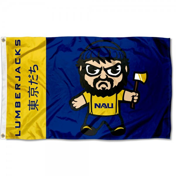 NAU Lumberjacks Kawaii Tokyo Dachi Yuru Kyara Flag measures 3x5 feet, is made of 100% polyester, offers quadruple stitched flyends, has two metal grommets, and offers screen printed NCAA team logos and insignias. Our NAU Lumberjacks Kawaii Tokyo Dachi Yuru Kyara Flag is officially licensed by the selected university and NCAA.