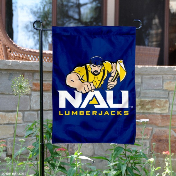 NAU Lumberjacks Logo Garden Flag is 13x18 inches in size, is made of 2-layer polyester, screen printed NAU Lumberjacks athletic logos and lettering. Available with Same Day Express Shipping, Our NAU Lumberjacks Logo Garden Flag is officially licensed and approved by NAU Lumberjacks and the NCAA.