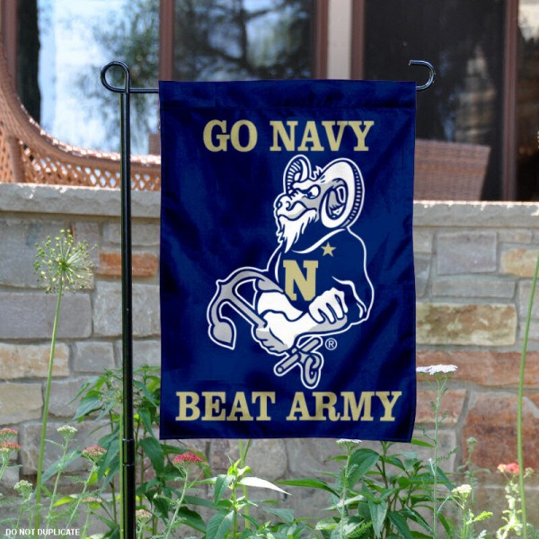 Navy Beat Army Yard Flag is 13x18 inches in size, is made of 2-layer polyester, screen printed Navy Beat Army athletic logos and lettering. Available with Same Day Express Shipping, Our Navy Beat Army Yard Flag is officially licensed and approved by Navy Beat Army and the NCAA.