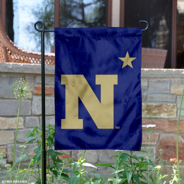 Navy N-Star Logo Garden Flag is 13x18 inches in size, is made of 2-layer polyester, screen printed Navy N-Star athletic logos and lettering. Available with Same Day Express Shipping, Our Navy N-Star Logo Garden Flag is officially licensed and approved by Navy N-Star and the NCAA.