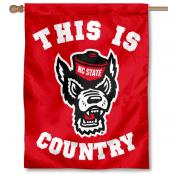NC State This is Wolfpack Country House Flag