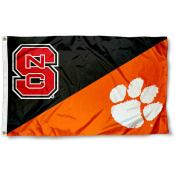 NC State vs. Clemson House Divided 3x5 Flag