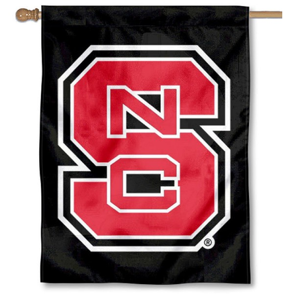 NC State Wolfpack Black Banner Flag is a vertical house flag which measures 30x40 inches, is made of 2 ply 100% polyester, offers dye sublimated NCAA team insignias, and has a top pole sleeve to hang vertically. Our NC State Wolfpack Black Banner Flag is officially licensed by the selected university and the NCAA.