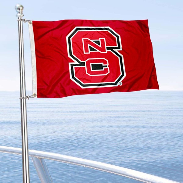 NC State Wolfpack Golf Cart Flag is a small 12x18 inches, made of 2-ply polyester with quad stitched flyends, and is double-sided. Our Golf Cart Logo Flags are Officially Licensed and Approved by NC State and NCAA.