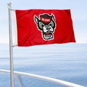 NC State Wolfpack Wolf Logo Boat and Mini Flag