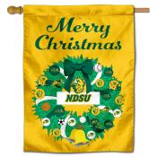NDSU Bison Happy Holidays Banner Flag