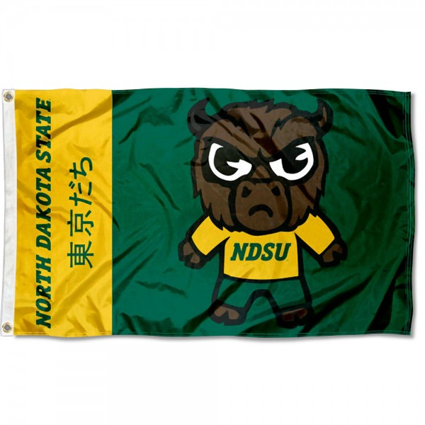 NDSU Bison Kawaii Tokyo Dachi Yuru Kyara Flag measures 3x5 feet, is made of 100% polyester, offers quadruple stitched flyends, has two metal grommets, and offers screen printed NCAA team logos and insignias. Our NDSU Bison Kawaii Tokyo Dachi Yuru Kyara Flag is officially licensed by the selected university and NCAA.
