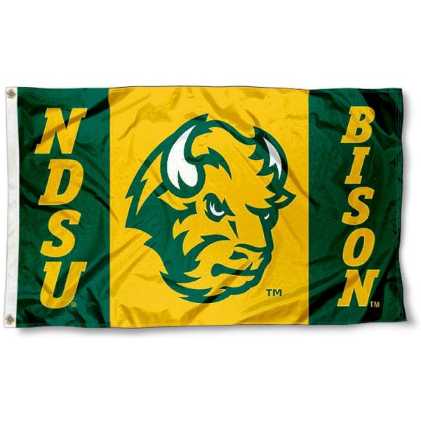 NDSU Bison Logo Flag measures 3'x5', is made of 100% poly, has quadruple stitched sewing, two metal grommets, and has double sided Team University logos. Our NDSU Bison 3x5 Flag is officially licensed by the selected university and the NCAA.