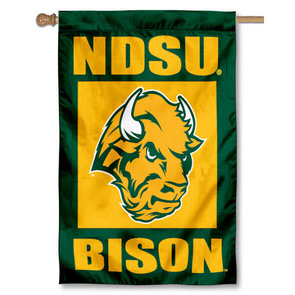 NDSU House Flag is a vertical house flag which measures 30x40 inches, is made of 2 ply 100% polyester, offers dye sublimated NCAA team insignias, and has a top pole sleeve to hang vertically. Our NDSU House Flag is officially licensed by the selected university and the NCAA.