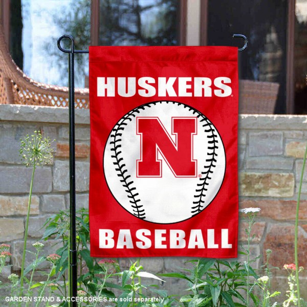 Nebraska Cornhuskers Baseball Team Garden Flag is 13x18 inches in size, is made of 2-layer polyester, screen printed University of Nebraska Baseball athletic logos and lettering. Available with Express Shipping, Our Nebraska Cornhuskers Baseball Team Garden Flag is officially licensed and approved by University of Nebraska Baseball and the NCAA.