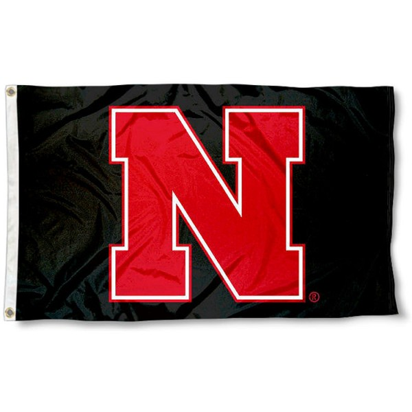 Nebraska Cornhuskers Black N Logo Flag measures 3x5 feet, is made of 100% polyester, offers quadruple stitched flyends, has two metal grommets, and offers screen printed NCAA team logos and insignias. Our Nebraska Cornhuskers Black N Logo Flag is officially licensed by the selected university and NCAA.