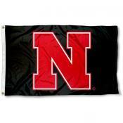 Nebraska Cornhuskers Black N Logo Flag