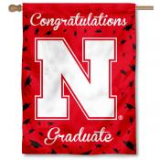 Nebraska Cornhuskers Congratulations Graduate Flag