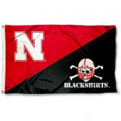 Nebraska Cornhuskers Divided Blackshirts Flag