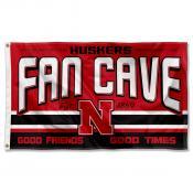 Nebraska Cornhuskers Fan Man Cave Game Room Banner Flag