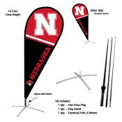 Nebraska Cornhuskers Feather Flag Kit