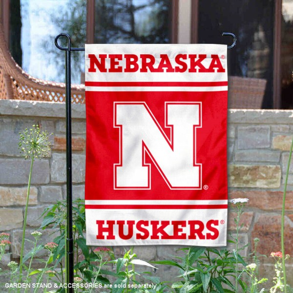 Nebraska Cornhuskers Garden Flag is 13x18 inches in size, is made of 2-layer polyester, screen printed logos and lettering. Available with Same Day Express Shipping, Our Nebraska Cornhuskers Garden Flag is officially licensed and approved by the NCAA.