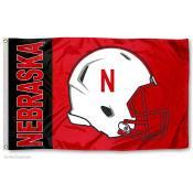 Nebraska Cornhuskers Helmet Flag