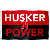 Nebraska Cornhuskers Husker Power Flag
