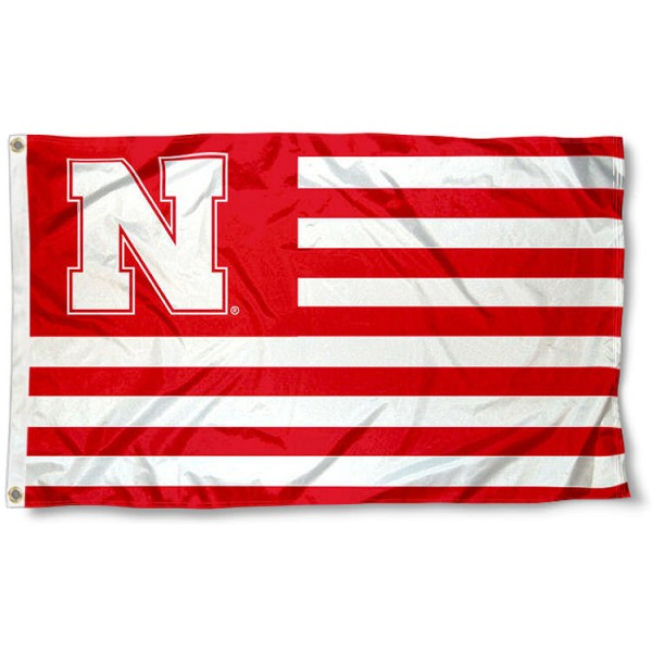 Nebraska Cornhuskers Stripes Flag measures 3'x5', is made of polyester, offers double stitched flyends for durability, has two metal grommets, and is viewable from both sides with a reverse image on the opposite side. Our Nebraska Cornhuskers Stripes Flag is officially licensed by the selected school university and the NCAA.