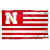 Nebraska Cornhuskers Stripes Flag