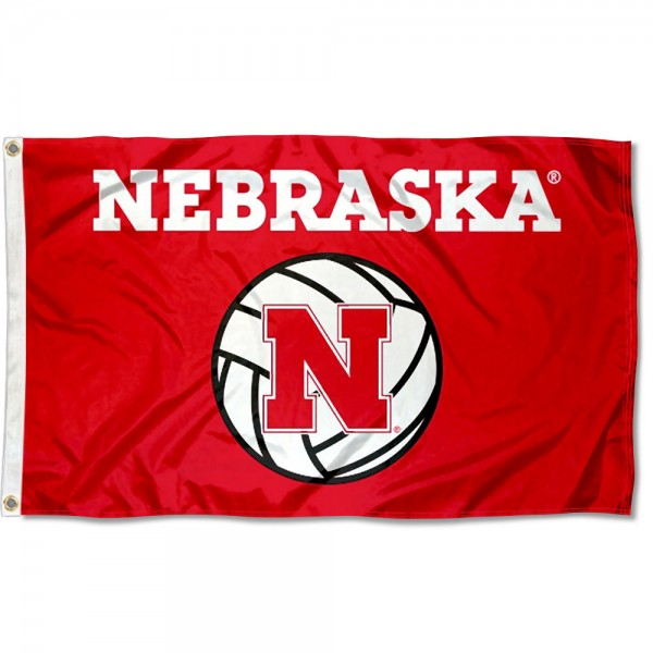 Nebraska Cornhuskers Volleyball Flag measures 3x5 feet, is made of 100% polyester, offers quadruple stitched flyends, has two metal grommets, and offers screen printed NCAA team logos and insignias. Our Nebraska Cornhuskers Volleyball Flag is officially licensed by the selected university and NCAA.